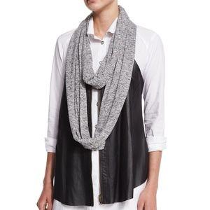 NWT XCVI | Loop Knit Infinity Scarf Dark Gray  m3